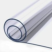 2mm Thick 42 X 60 Inch Square Table Top Protector Clear Vinyl Plastic Tablecloth