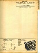 John Deere Vintage A Ar And Ao Tractor Parts Manual Not Styled Pc-674