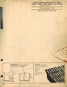 John Deere Vintage B, B, Bnh, Bw And Bwh Tractor Parts Manual Styled Pc-330