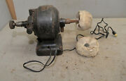 Rare Antique Fidelity Electric Motor Collectible Jewelers Lathe Cast Iron Body