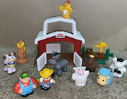 Vintage Fisher Price Little People Farm Barn 2002 Mattel Toy Play Set Great Cond