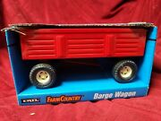 1/16 Case Ih Red Barge Tractor Wagon Farm Country Pressed Steel Ertl Harvester