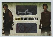 Walking Dead 3 Reedus And Lincoln Oversized Dual Auto Card Oam-20 From Redemption