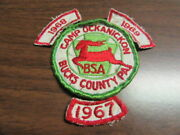 Camp Ockanickon Patch With Segments From 1967 1968 And 1969  Worn   Cov7