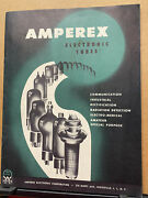 Vtg Amperex Electronic Corp Catalog Tubes Replacement Guide 211 212 1953