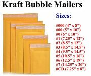 Kraft Bubble Mailers Padded Envelope 000 0 Cd 1 2 3 4 5 6 7 Bags All Sizez