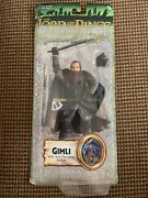 """Toy Biz Lotr Lord Of The Rings Axe Throwing Gimli 6"""" Figure New Sealed"""