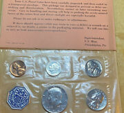 1964 Proof Coins Set. Us Government Mint. All Denominations Of This Year Issue.