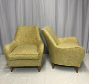 Pair Of Restored Lounge Chairs Mid Century Modern