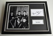 Pete Best Signed Framed Photo Autograph 16x12 Display Beatles Music Aftal And Coa