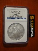 2006 W Burnished Silver Eagle Ngc Ms69 Early Releases Blue Label