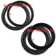 Front 70/100-17 + Rear 90/100-14 Tire And Tube Dirt Pit Bike Offroad Motorcross
