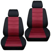 Front Set Car Seat Covers Fits 2002-2020 Honda Pilot Black And Burgundy