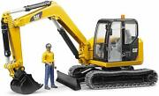 Bruder New Toy Cat Mini Excavator With Worker 116 Scale In/outdoor Toys 02467