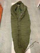 Military Intermediate Cold Weather Sleeping Bag With Camo Waterproof Cover.