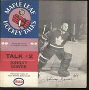 1966 Esso Maple Leaf Hockey Talks 33 Rpm Records Psa Auth Lot 6 Signed 61659