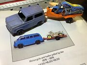 1976 Tootsie Toy Chevy Blazer W/ Trailer And Motorcycle