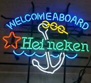 New Welcomeaboard Heineken Anchor Neon Sign Display Garage Beer Bar Pub 17and039and039x14