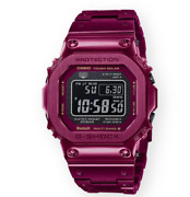 Casio G-shock Menand039s Full Metal Red Solar Powered Watch Gmwb5000rd-4