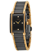 Authentic Rado Integral Diamonds Black Dial Ceramic Womenand039s Watch R20612712