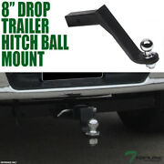 Topline 8 Drop Trailer Tow Hitch Loaded Ball Mount With 2 Receiver For Acura