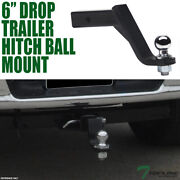 Topline 6 Drop Trailer Tow Hitch Loaded Ball Mount With 2 Receiver For Acura
