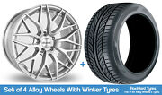 Alkatec Winter Alloy Wheels And Snow Tyres 19 For Audi A6 Allroad [c7] 11-18
