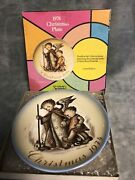 Schmid Bros.1974 Sister Berta Hummel Christmas Plate Made In West Germany W/box