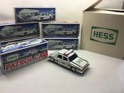 1993 Case Of 6 Hess Patrol Cars In Boxes