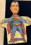 Superman 1965 Ideal Toy Co. Hand Puppets Excellent Cloth Color And Paint