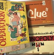 Toys Vintage Board Games Monopoly Clue Operation