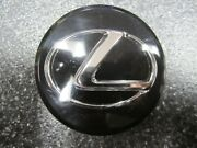 One 1 Oem Black And Chrome In Acrylic Lexus Center Cap 71a104-0010 62mm 2.50