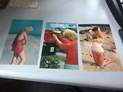 1960's-women In Skimpy Bathing Suits-alluring Women -3 Cards-massachusetts Adver