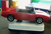 Vintage Red Camaro Kiddie Ride Coin Operated Arcade Hot Rod Race Car
