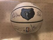 Memphis Grizzles Team Signed Autographed Logo Basketball Please Read Names