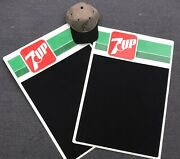 2 Vintage Mint Condition 7up Chalkboard Signs