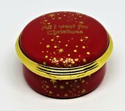 Halcyon Days Enamel Box- All I Want For Christmas ... Is You And Stars - Mirror
