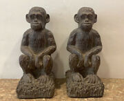 Melannco The Keeper Of Memories Monkey Bookends Resin