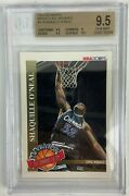 1992 Hoops Magic's All-rookies Team Shaquille O'neal Rookie 1 Bgs 9.5 Gem Mint