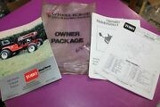 Toro Wheel Horse 240-series 5-speed Lawn Tractor Ops Manual + Parts Catalog +