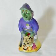 Fenton Glass Limited Edition Halloween Witch Hand Painted By Kim Barley 8 Of 18