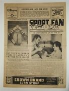 Sport Fan 1941 Montreal Sports Newspaper Hockey Boxing Baseball Preview Horses