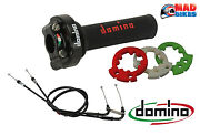 Domino Xm2 Quick Action Throttle Grips And Cables For Yamaha Yzf R1 2015-2016