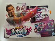 Nerf Rebelle Pink Crush Blaster With Detachable Crossbow Arm 4 Collectible Darts