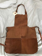 Piel Hand Made Genuine Leather John Deere Protective Apron New W/ Tag 1873 Logo