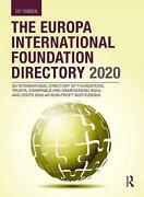 Europa International Foundation Directory 2020 Hardcover Book Free Shipping