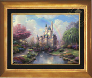 Thomas Kinkade A New Day At The Cinderella Castle 18x24 S/n Oil On Canvas