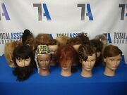 Lot Of 15 Used Pivot Point Cosmetology Training School Hair Dressing Mannequins