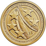 Andnbspshipping 2021 Pandd - Native American Distinguished Military Service Dollar Coins