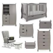 Obaby Stamford Luxe 7 Piece Room Set Taupe Grey - Suitable From Birth